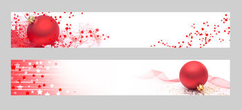 Christmas horizontal banners Royalty Free Stock Photography