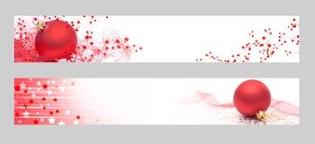 Christmas horizontal banners. Christmas banners for the web royalty free stock photography