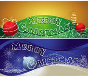 Christmas horizontal banners Stock Photography