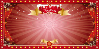Christmas horizontal card Royalty Free Stock Photography