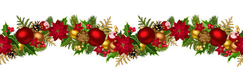 Christmas horizontal seamless background. royalty free illustration