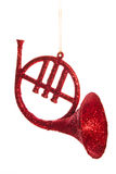 Christmas horn decoration Royalty Free Stock Image