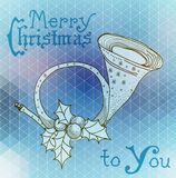 Christmas horn decoration Stock Images