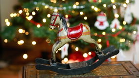 Christmas horse decoration winter stock footage