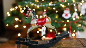 Christmas horse decoration winter stock video footage