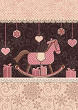 Christmas horse and gifts Royalty Free Stock Images