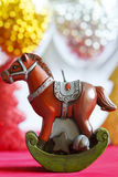 Christmas horse. Symbol new year 2014 Royalty Free Stock Image