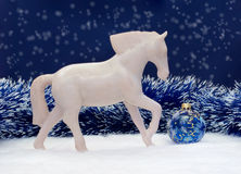 Christmas horse Stock Images