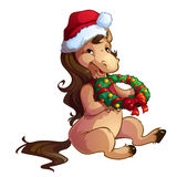 Christmas horse Stock Photos