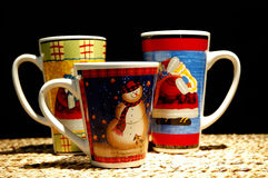 Christmas Hot Chocolate Cups Royalty Free Stock Photos