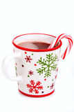Christmas hot cocoa beverage stock image