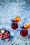 Christmas hot mulled wine stock images