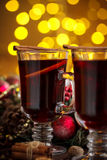 Christmas hot mulled wine Royalty Free Stock Image