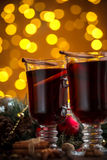 Christmas hot mulled wine Stock Photos