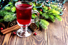Christmas hot punch stock images