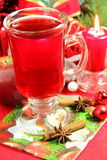 Christmas hot tea Stock Image