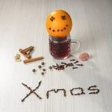 Christmas hot wine still life Royalty Free Stock Photo