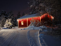 Christmas house stock photography
