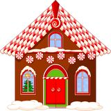 Christmas house. Made of gingerbread, cream and candies Royalty Free Stock Images