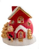 Christmas house. Object decoration isolated on a white background Royalty Free Stock Photos