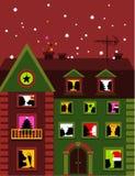 Christmas house royalty free illustration