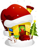 Christmas House Royalty Free Stock Photography