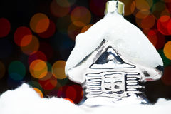 Christmas house royalty free stock photo
