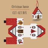 Christmas house box. Packaging for the new year and christmas, printing, christmas gift Stock Photography