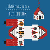 Christmas house box. Packaging for the new year and christmas, printing, christmas gift Royalty Free Stock Photos