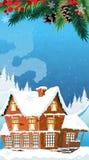 Christmas House. Royalty Free Stock Photo