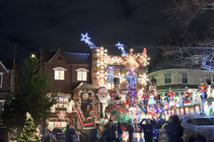 Christmas house in Brooklyn New York Stock Photography