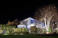 Christmas house in Brooklyn New York Stock Image