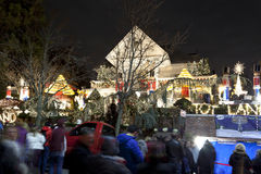 Christmas house in Brooklyn New York Royalty Free Stock Photos