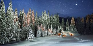 Christmas House in the Carpathians royalty free stock photos