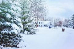 Christmas, House, Cold Royalty Free Stock Photography