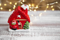Christmas House Decoration Royalty Free Stock Photography