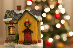 Christmas house decoration Stock Photos