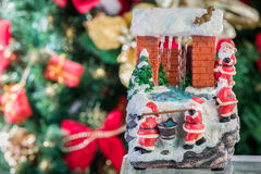 Christmas house Fountain Royalty Free Stock Photo