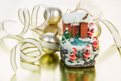 Christmas house Fountain Royalty Free Stock Photography