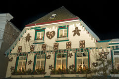 Christmas House in Germany Royalty Free Stock Images