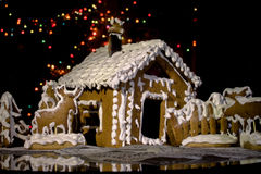 Christmas house. Gingerbread house for new year Royalty Free Stock Images
