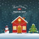 Christmas House Illustration Royalty Free Stock Photo