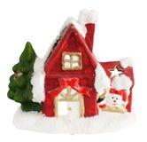 Christmas house isolated royalty free stock image