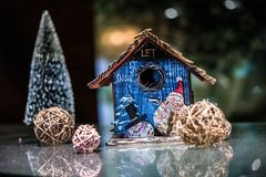 Christmas house let it snow Royalty Free Stock Photos