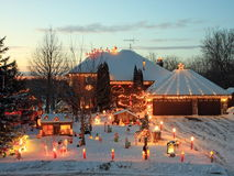 Christmas house in Minnesota Stock Image