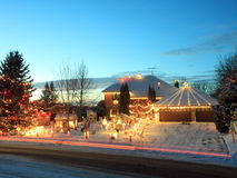 Christmas house in Minnesota Royalty Free Stock Photos