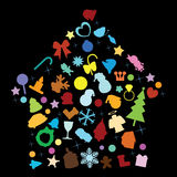 Christmas house objects. Christmas objects as background, decorations Royalty Free Stock Photos
