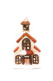 Christmas House Ornament. Little snow covered Christmas House Candle Ornament Stock Photography