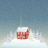 Christmas house Royalty Free Stock Photos