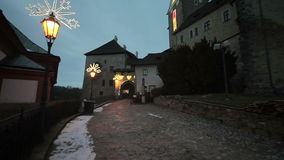 Christmas Hrad Loket stock video